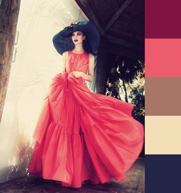 Daydream-In-Color-Color-Palette-Red-Dressed-Lady