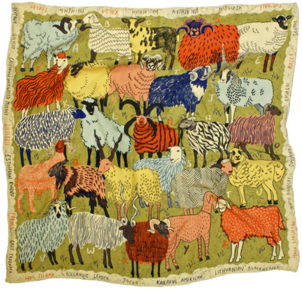 Daydream-In-Color-Wish-I-Was-Wednesday-Caleb-Luke-Lin-Scarves-Sheep