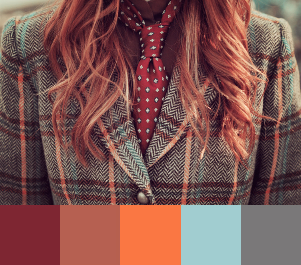 Daydream-In-Color-Color-Palette-Clad-In-Plaid-And-Tie