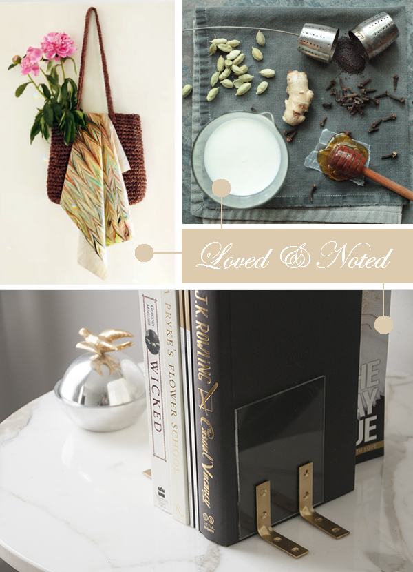 Daydream-In-Color-Loved-And-Noted-DIY-Marbled-Scarf-Homemade-Chai-DIY-Gold-Lucite-Bookends