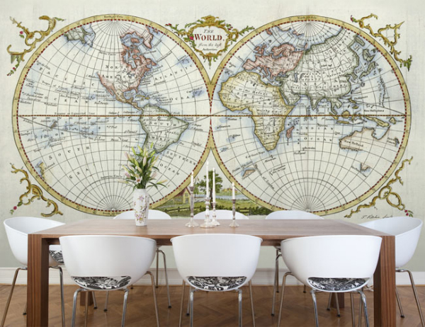 Daydream-In-Color-Lust-List-Wallpapered-Maps-Antique-World-Map-1777